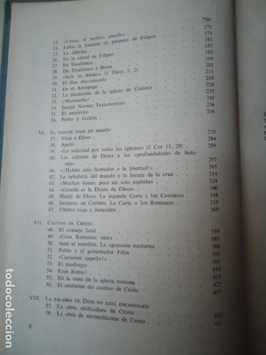 Libros de segunda mano: LIBRO. SAN PABLO, HERALDO DE CRISTO, DE JOSEF HOLZNER, 1961.EDICIÓN CORREGIDA Y AUMENTADA. - Foto 6 - 132774710