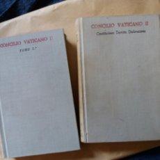 Libros de segunda mano: BAC 238 Y 252 2 TOMOS CONCILIO VATICANO II CASIMIRO MORCILLO . Lote 132898522
