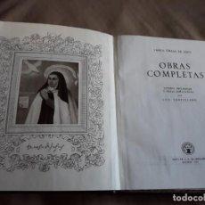Libros de segunda mano: OBRAS COMPLETAS, SANTA TERESA DE JESÚS, ED. AGUILAR, 1951. Lote 133460866