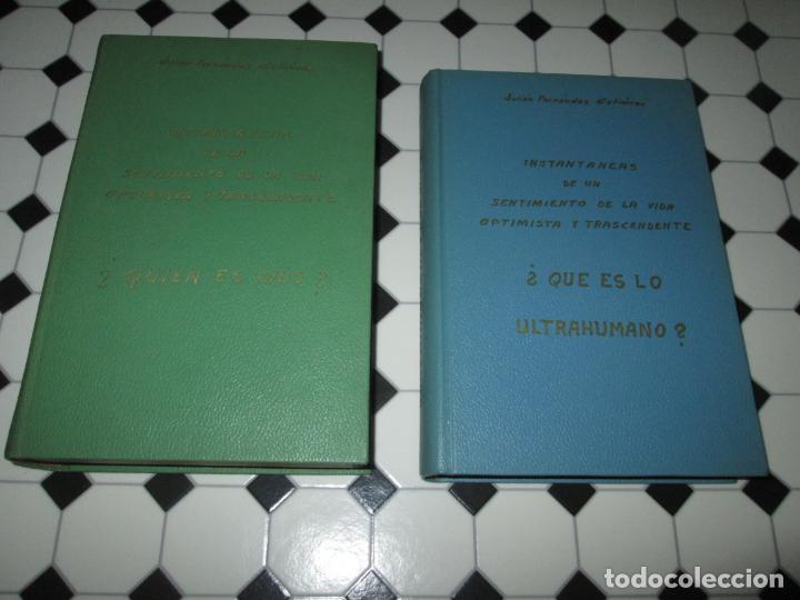 LOTE 2 LIBROS-¿QUIEN ES DIOS? Y ¿QUE ES LO ULTRAHUMANO?-1967-EXCELENTE ESTADO-VER FOTOS (Libros de Segunda Mano - Religión)