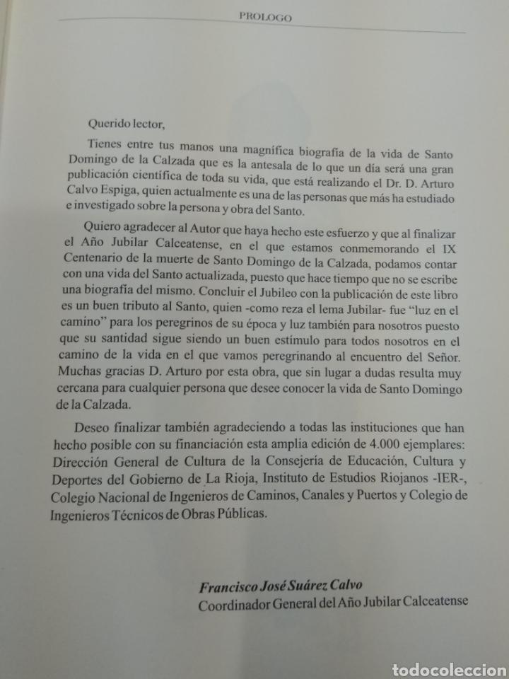 Libros de segunda mano: SANTO DOMINGO DE LA CALZADA Ingeniero y guía en el camino A. Calvo Espiga ILUSTRADO Camino Santiago. - Foto 2 - 134427951