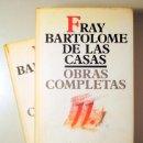 Libros de segunda mano: CASAS, FRAY BARTOLOMÉ DE LAS - OBRAS COMPLETAS VOL. 11.1 Y 11.2 - MADRID 1992 - EDICIÓN BILINGÜE. Lote 135288137