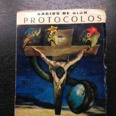 Libros de segunda mano: PROTOCOLOS DE LOS SABIOS DE SION, 1963. Lote 135447046