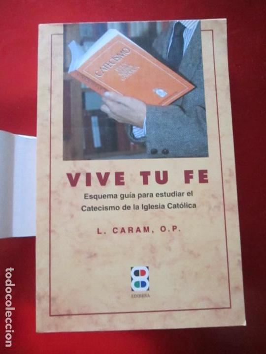 Libros de segunda mano: LIBRO-VIVE TÚ FÉ-LUCÍA CARAM-EL CATECISMO EN CRUCIGRAMAS-4ªEDICIÓN-1995-NUEVO-FAJA-VER FOTOS - Foto 3 - 135905530