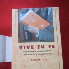 Libros de segunda mano: LIBRO-VIVE TÚ FÉ-LUCÍA CARAM-EL CATECISMO EN CRUCIGRAMAS-4ªEDICIÓN-1995-NUEVO-FAJA-VER FOTOS. Lote 135905530