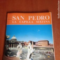 Libros de segunda mano: SAN PEDRO LA CAPILLA SIXTINA GUIA A COLORES. Lote 136423028