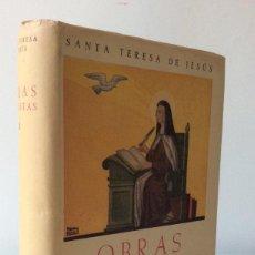 Libros de segunda mano: OBRAS COMPLETAS II. SANTA TERESA DE JESÚS. BAC. 1954. Lote 180439100
