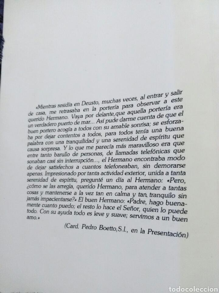 Libros de segunda mano: H. Francisco Garate, S.I., Portero de Deusto. J. Iturrioz. Mensajero, 1985. - Foto 2 - 137394957