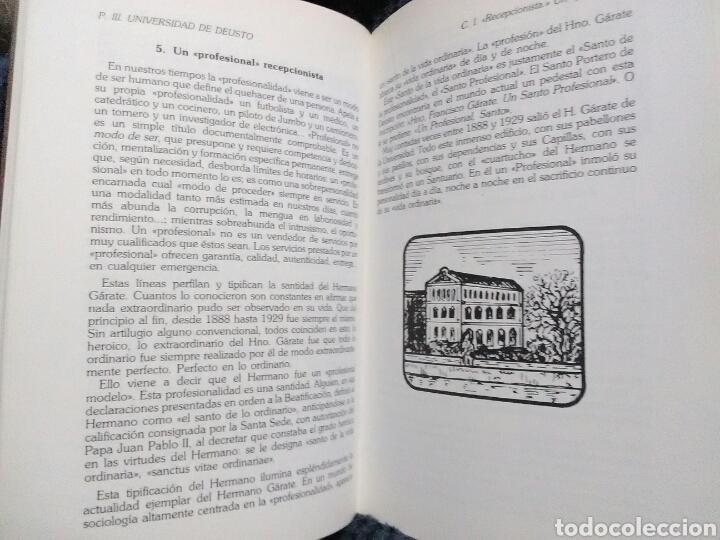 Libros de segunda mano: H. Francisco Garate, S.I., Portero de Deusto. J. Iturrioz. Mensajero, 1985. - Foto 4 - 137394957