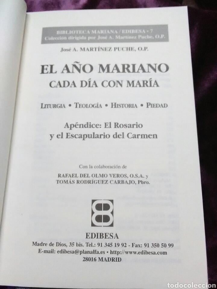 Libros de segunda mano: El año mariano, cada día con María. Mz. Puche. Edibesa. 2002. - Foto 3 - 138723446