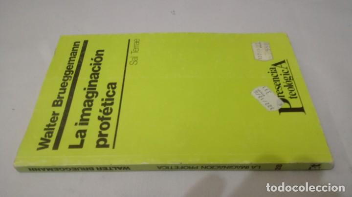 LA IMAGINACION PROFETICA-WALTER BRUEGGEMANNPRESENCIA TEOLOGICA-SAL TERRAE (Libros de Segunda Mano - Religión)