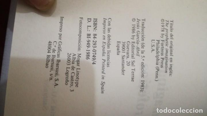 Libros de segunda mano: LA IMAGINACION PROFETICA-WALTER BRUEGGEMANNPRESENCIA TEOLOGICA-SAL TERRAE - Foto 5 - 138840982