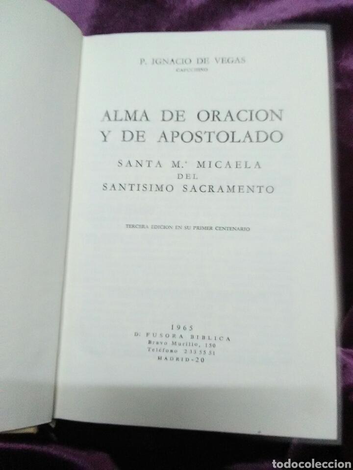 Libros de segunda mano: Alma de oración y de apostolado. S. Mª Micaela del S.S. 1965. - Foto 2 - 139006453
