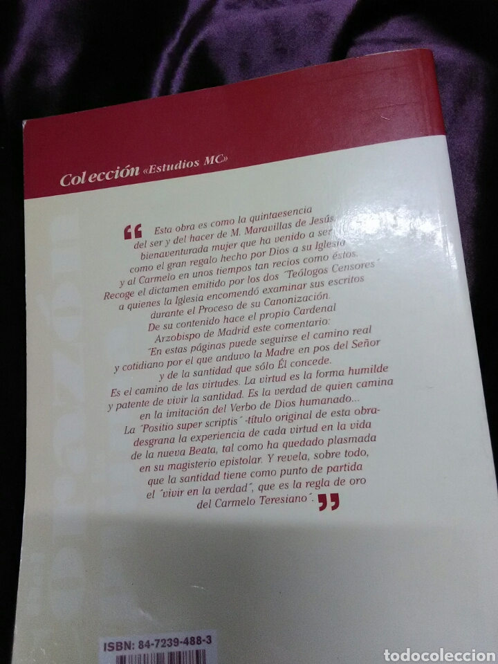 Libros de segunda mano: Del corazón a la pluma. (Santa Maravillas de Jesús). Monte Carmelo, 1999. - Foto 2 - 139593006