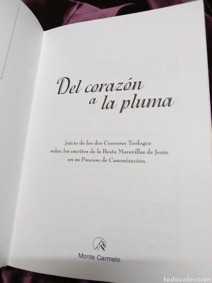 Libros de segunda mano: Del corazón a la pluma. (Santa Maravillas de Jesús). Monte Carmelo, 1999. - Foto 3 - 139593006