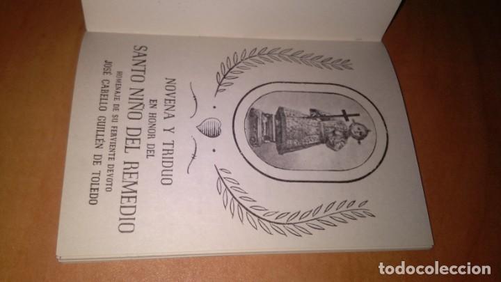 Libros de segunda mano: Novena y triduo , en honor del santo niño del remedio, librito de mano religión. - Foto 6 - 140431942