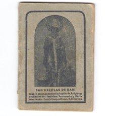 Libros de segunda mano: 1 LIBRO SAN NICOLAS DE BARI AÑO 1947. Lote 140903286