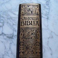 Libros de segunda mano: SAGRADA BIBLIA. TEXTO DEL ANTIGUO Y NUEVO TESTAMENTO. EDICIÓN FACSIMILAR DE 1884. UNALI, 1974.. Lote 140928718