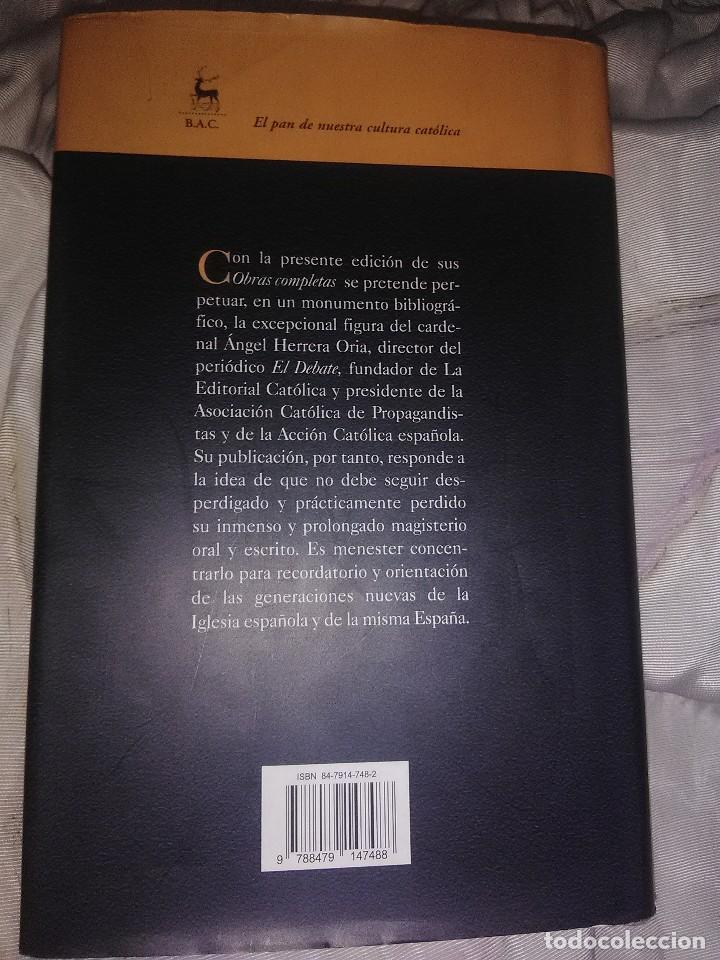 Libros de segunda mano: Obras completas. Card. Ángel Herrera Oria. (V). BAC nº 650. 2004. - Foto 2 - 141260134