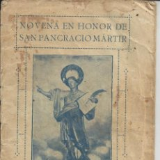 Libros de segunda mano: NOVENA EN HONOR A SAN PANCRACIO MARTIR. AÑO 1925. Lote 141822954