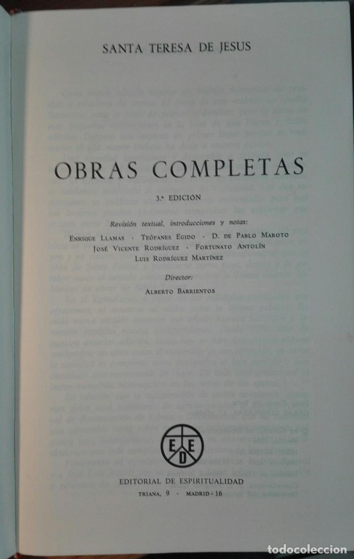 Libros de segunda mano: Teresa de Jesús. Obras completas. 1984 - Foto 2 - 142263594
