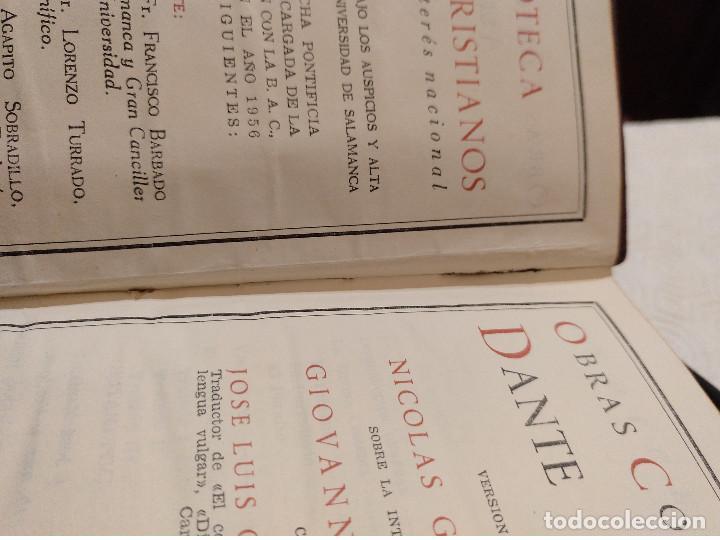 Libros de segunda mano: OBRAS COMPLETAS DE DANTE ALIGHIERI. BAC 1956. PIEL. - Foto 6 - 142981306