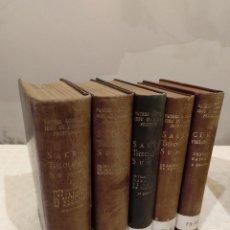 Libros de segunda mano: SACRAE THEOLOGIAE SUMMA. 5 TOMOS OBRA COMPLETA. BAC 1949, 1951, 1952 Y 1953.. Lote 143011358