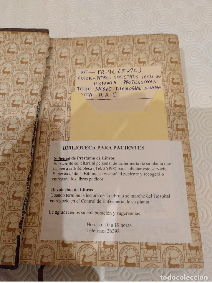 Libros de segunda mano: SACRAE THEOLOGIAE SUMMA. 5 TOMOS OBRA COMPLETA. BAC 1949, 1951, 1952 Y 1953. - Foto 3 - 143011358