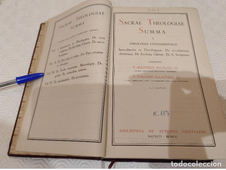 Libros de segunda mano: SACRAE THEOLOGIAE SUMMA. 5 TOMOS OBRA COMPLETA. BAC 1949, 1951, 1952 Y 1953. - Foto 4 - 143011358