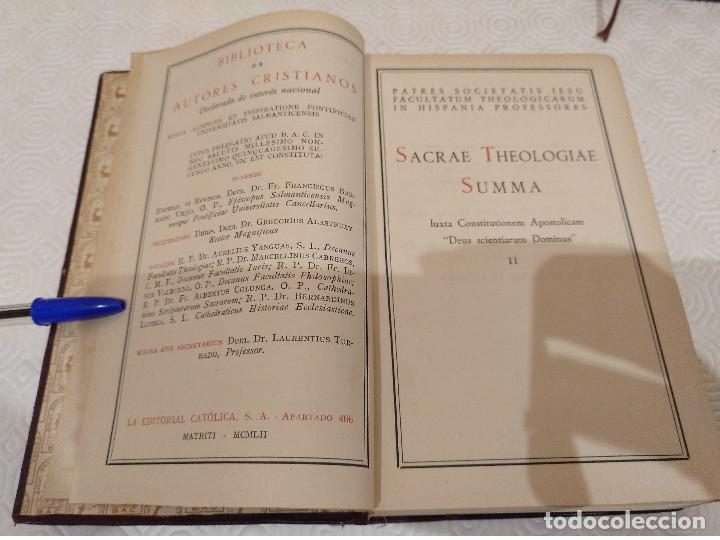 Libros de segunda mano: SACRAE THEOLOGIAE SUMMA. 5 TOMOS OBRA COMPLETA. BAC 1949, 1951, 1952 Y 1953. - Foto 5 - 143011358