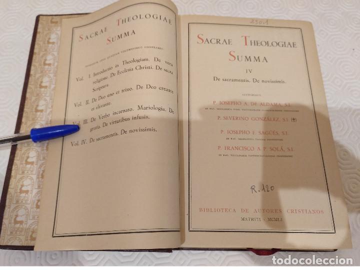 Libros de segunda mano: SACRAE THEOLOGIAE SUMMA. 5 TOMOS OBRA COMPLETA. BAC 1949, 1951, 1952 Y 1953. - Foto 7 - 143011358