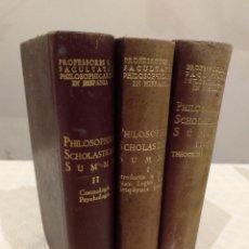 Libros de segunda mano: PHILOSOPHIAE SCHOLASTICAE SUMMA. 3 TOMOS OBRA COMPLETA. BAC 1952, 1953 Y 1955.. Lote 143011738