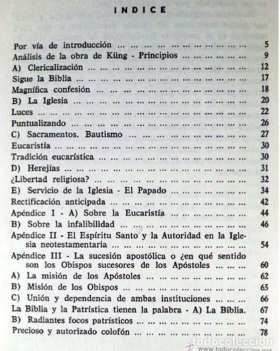 Libros de segunda mano: LA IGLESIA IMPUGNADA Y DEFENDIDA - Joaquín Tapies Riu - Foto 2 - 172378442