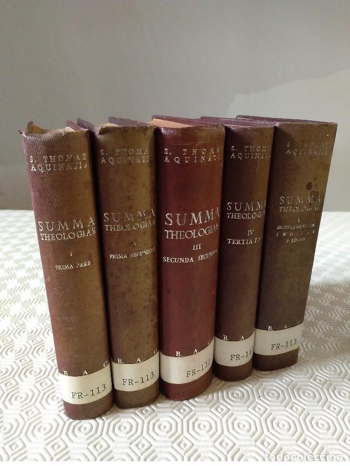 SUMMA THEOLOGIAE SANCTI THOMAEL AQUINATIS. 5 TOMOS. BAC 1951. PIEL. (Libros de Segunda Mano - Religión)