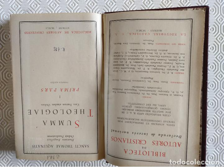 Libros de segunda mano: SUMMA THEOLOGIAE SANCTI THOMAEL AQUINATIS. 5 TOMOS. BAC 1951. PIEL. - Foto 4 - 143043634