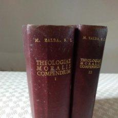 Libros de segunda mano: THEOLOGIAE MORALIS COMPENDIUM. MARCELLINUS ZALBA. BAC 1958. 2 TOMOS OBRA COMPLETA. BAC 1958. PIEL. . Lote 143046454