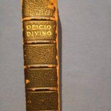 Libros de segunda mano: OFICIO DIVINO. DE 1869. Lote 143091010