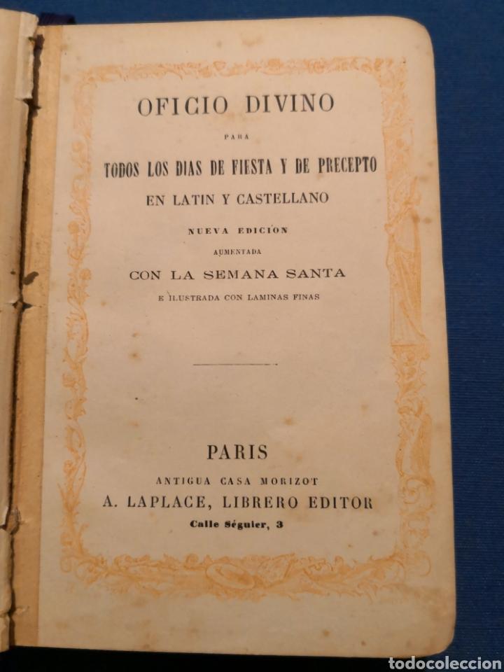 Libros de segunda mano: Oficio Divino. De 1869 - Foto 3 - 143091010