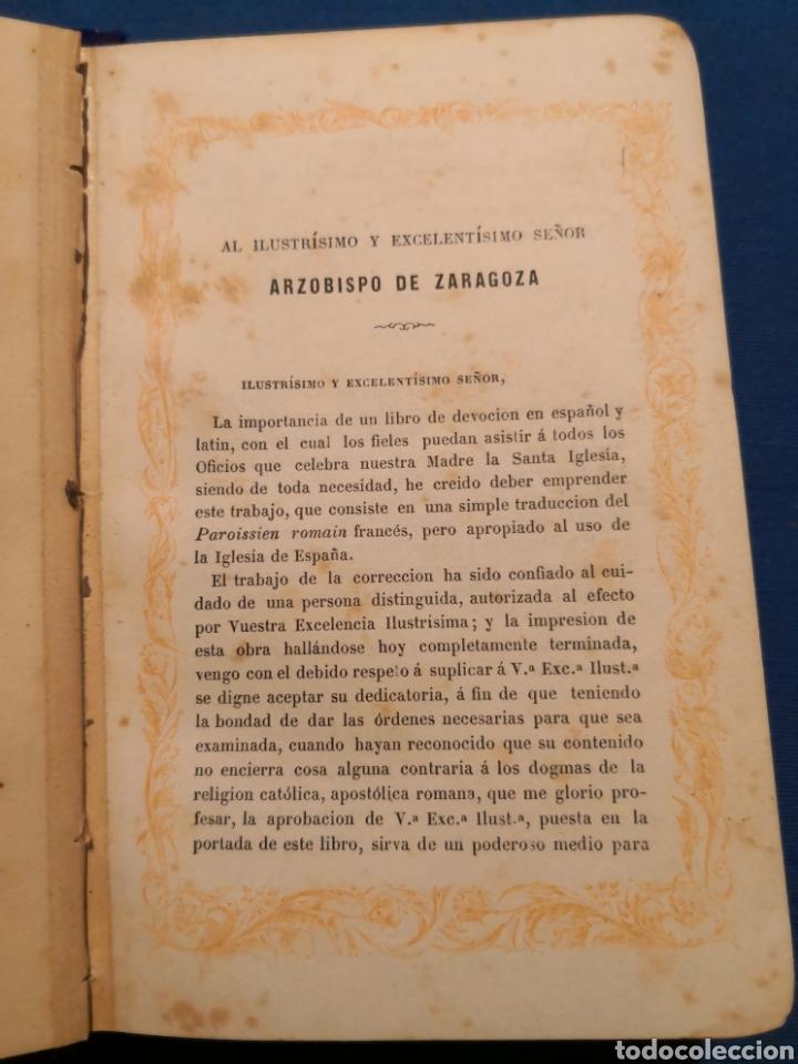 Libros de segunda mano: Oficio Divino. De 1869 - Foto 4 - 143091010