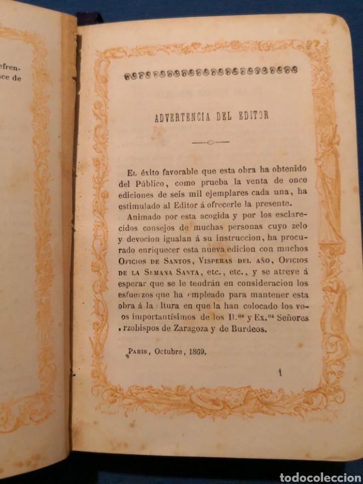 Libros de segunda mano: Oficio Divino. De 1869 - Foto 6 - 143091010