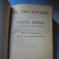 Libros de segunda mano: W. W. RAND - EL DICCIONARIO DE LA SANTA BIBLIA (CARIBE, COSTA RICA). CON MAPAS Y TABLAS.. Lote 143129882