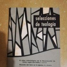 Libros de segunda mano: SELECCIONES DE TEOLOGIA (Nº 9, AÑO III, 1964) EL VALOR SOTERIOLOGICO DE LA RESURECCION DE CRISTO. Lote 144425662
