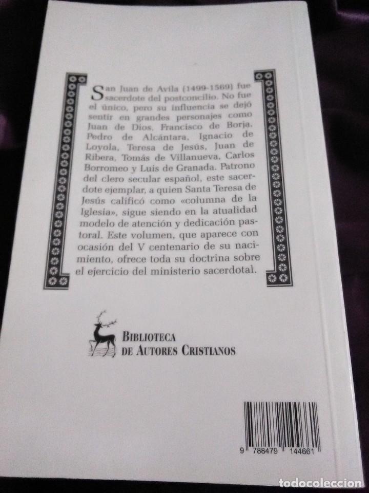 Libros de segunda mano: Juan de Ávila. Escritos sacerdotales. BAC. 2000. - Foto 2 - 144519758