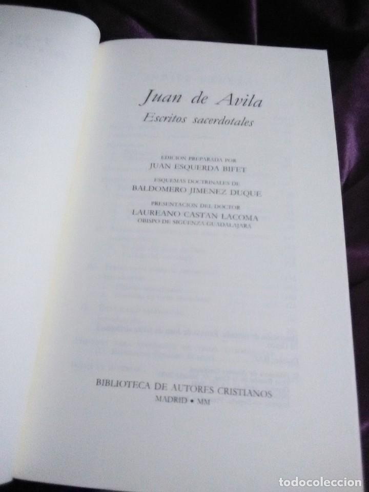 Libros de segunda mano: Juan de Ávila. Escritos sacerdotales. BAC. 2000. - Foto 3 - 144519758