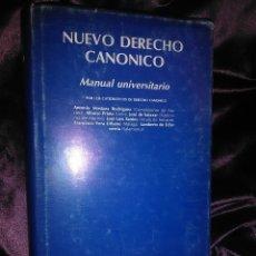 Libros de segunda mano: NUEVO DERECHO CANÓNICO. MANUAL UNIVERSITARIO. VARIOS AUTORES. 1983. BAC, N. 445.. Lote 144668509