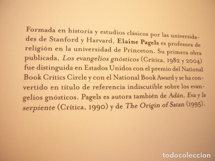 Libros de segunda mano: ELAINE PAGELS: MÁS ALLÁ DE LA FE. EL EVANGELIO SECRETO DE TOMÁS (ARES Y MARES, 2003) COMO NUEVO - Foto 4 - 144736170