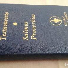Libros de segunda mano: NUEVO TESTAMENTO - SALMOS PROVERBIOS - LOS GEDEONES INTERNACIONALES. Lote 144754574