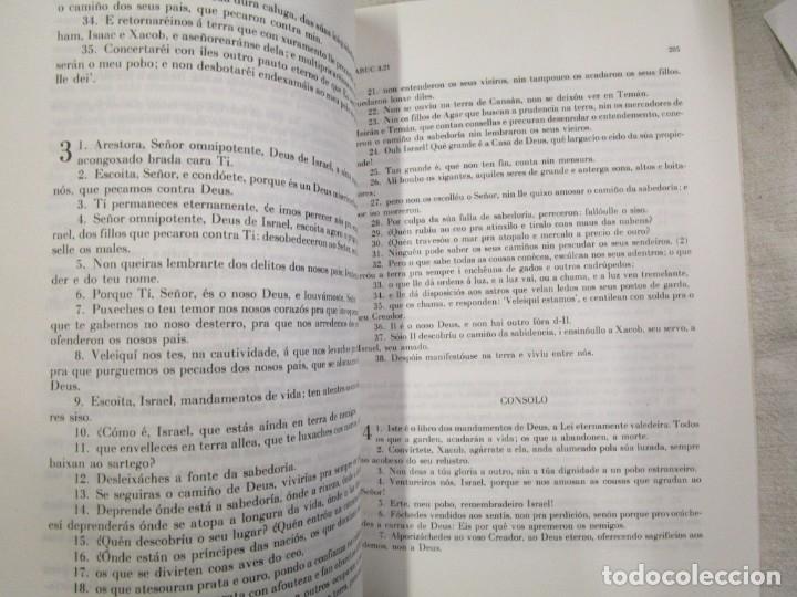 Libros de segunda mano: SAGRADA BIBLIA TRADUCIDA AL GALLEGO - EN 5 TOMOS, EDI BIBLIOFILOS GALLEGOS 1985 + INFO - Foto 3 - 174893348