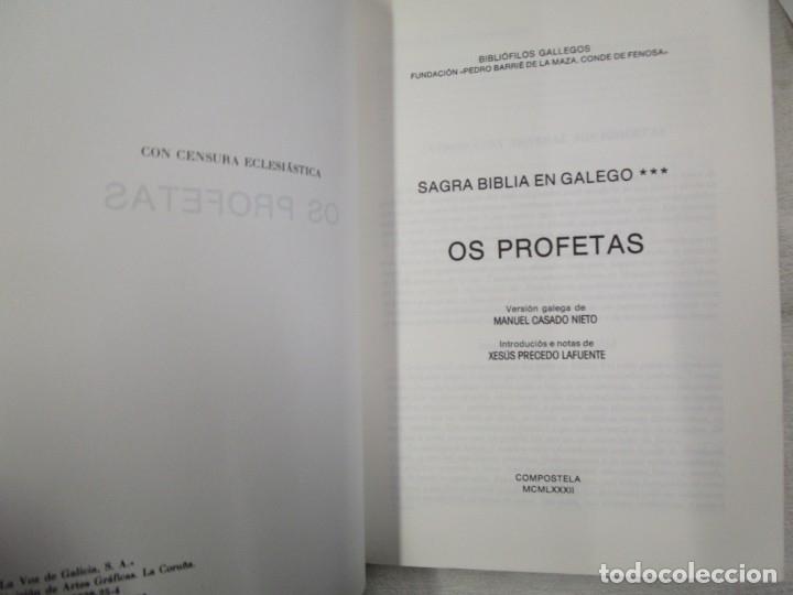 Libros de segunda mano: SAGRADA BIBLIA TRADUCIDA AL GALLEGO - EN 5 TOMOS, EDI BIBLIOFILOS GALLEGOS 1985 + INFO - Foto 4 - 174893348