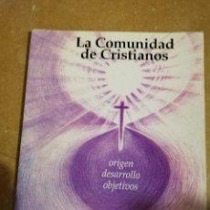 Libros de segunda mano: LA COMUNIDAD DE CRISTIANOS. ORIGEN, DESARROLLO, OBJETIVOS (HANS - WERNER SCHROEDER). Lote 145612422